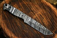 """8.0"""" OAL Damascus Steel Blank Blade Tanto Hunting Knife Handmade (L525-A)"""