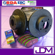 MITSUBISHI PAJERO NS & NT all models - RDA SLOTTED Rear Rotors & 4X4 GREEN Pads