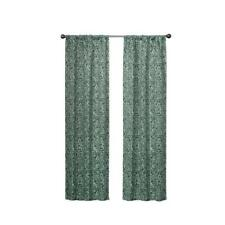 eclipse Bryton 84-in Forest Polyester Blackout Single Curtain Panel