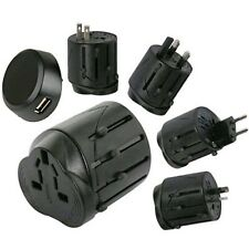 Universal World Travel Adapter Converter With USB Charger AU/UK/US/EU Plug