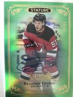 2019-20 Upper Deck Stature Auto Green Rookie Brandon Gignac 50/85 #183