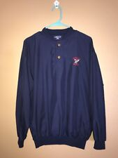 Vintage Starbus Emerald Greens Pull-Over Coach Jacket Size S(M) Navy Blue