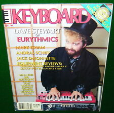 """1984 KEYBOARD Magazine, EURYTHMICS w-""""FREE"""" Record Wendy Carlos & SEQUENTIAL MAX"""