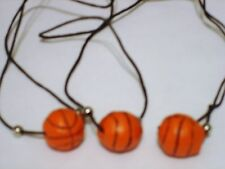 BASKETBALL NECKLACE ( LOT OF 12 ) RESIN. CARNIVAL TOYS, PARTY FAVORS