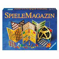 RAVENSBURGER Familienspiele SpieleMagazin Spielesammlung Dame Mühle Backgammon