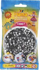Hama 1000 Midi Bügelperlen 207-62 Silber Ø 5 mm Perlen Steckperlen Beads