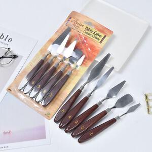 Stainless Steel Artist Palette Knife 5pcs set, For Artist Oil Painting