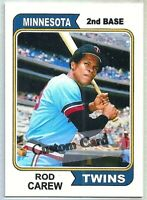 ROD CAREW MINNESOTA TWINS 1974 STYLE CUSTOM MADE BASEBALL CARD BLANK BACK
