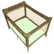 Infant Playpen Fitted Sheet Yard Playard Home Kids Safety Portable Baby Green