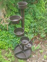 Porte-plantes, porte-pots en plastique marron design italien années 70