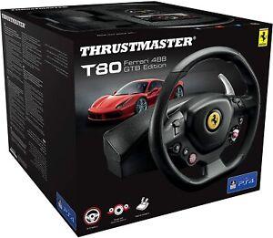 Thrustmaster Volante T80 Ferrari 488 GTB Edition per PS4 PS5 PC Nuovo