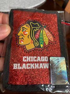 Chicago Blackhawks Beaded Lanyard ID Wallet for Shipt Work Amazon Sports Event