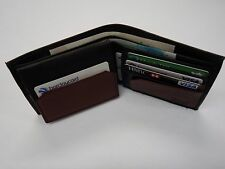 Gents Sheep Skin Leather Wallet for Ten Cards with Back Zip Ideal for Euros
