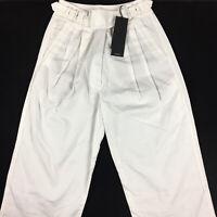 G-Star Raw Womens Bristum Pleated Wide Leg Chino Pants White W24 L30  NEW $190