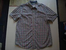 Fat Face Green/White/Grey/Cinamon Cotton Check Shirt, Medium, 43 Inch Chest.