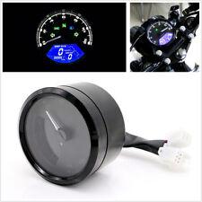 New Black 12000 RPM Motorcycle LCD Signal Speedometer Tachometer Odometer Gauge