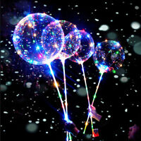 Reusable Luminous LED Balloon Clear Round Bubble Decor Party Wedding Kids Toy TW