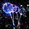 Reusable Luminous LED Balloon Clear Round Bubble Decor Party Wedding Kids Toy XG
