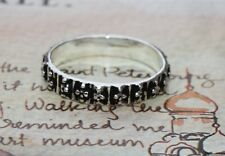 "Sundance Catalog Oxidized Sterling Silver ""Dappled Dotted"" Ring Sz 7 Band NIB"
