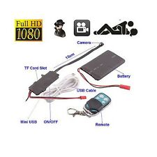 Mini HD1080P CCTV Remote Control With Motion Detection Spy Hidden Video Camera