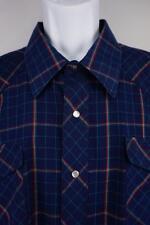 WRANGLER Cowboy Cut Pearl Snap WESTERN Shirt Long Sleeve Plaid Mens 19/35 3XL