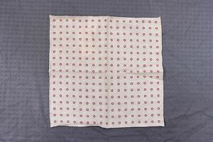 NWT Brunello Cucinelli Men's Soft Wool-Cotton Red Polka Dotted Pocket Sq  A176