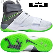 Nike LeBron Soldier 10 SFG DUNKMAN 9.5 White Cool Grey Electric Green 844378-103