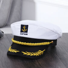 Adult Yacht Boat Captain Hat Navy Cap Ship Sailor Costume Party Fancy Dress