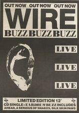 13/5/89Pgn41 Advert: Wire 'eardrum Buzz' Limited Edition Live Cd Single 7x5