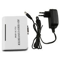 1080P Audio + VGA to HDMI HD HDTV Video Converter Box Adapter Videokonverter PC