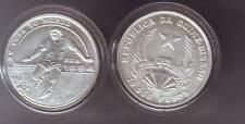 1991 Guinea Bissau Large Silver 10000 Pesos-Soccer World Cup