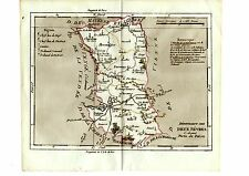 CARTE GRAVEE ET REHAUSSEE A L' AQUARELLE BRION DE LA TOUR 1797 DEUX SEVRES