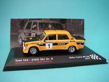 SEAT 124 FL 90 GR.5 FIAT - ZANINI - RALLY COSTA SOL 1977 1/43 NUEVO IXO / ALTAYA