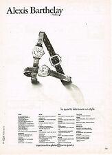 PUBLICITE ADVERTISING 034   1979   ALEXIS BARTHELAY     collection montres