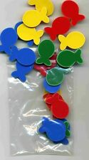 25 Recycled Bright Colored Plastic Fish for Collage