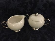 Flintridge China~Made In California, Bellmere Pattern~Sugar and Creamer