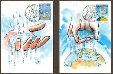 Vatican City Sc# 1180-1: Europa 2001: Water, Natural Resource, 2 Maxi Cards