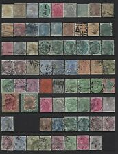 India. Collection of 68 stamps, 1876 to 1900 , Mint and Used