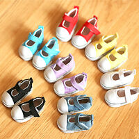 5cm Chaussures De Poupée Toile Mini Jouet Chaussures 1/6  Russian Poupée