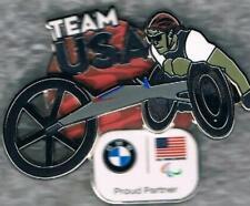 Undated BMW USA Paralympic Wheelchair Racing Team NOC Sponsor Slider Pin