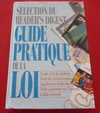French Hard Cover Book Sélection du Reader's Digest Guide Pratique de la Loi