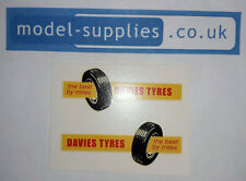Matchbox Major M2 Bedford Davies Tyres Reproduction Waterslide Transfer Set