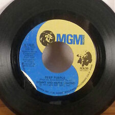 "Donny and Marie Osmond Deep Purple / Take me back again 7"" 45 MGM single VG"