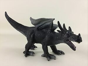 Black Horned Winged Dragon Figure Mythical Creature 2005 Toy Major Trading Co