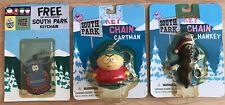 South Park Key Chains Unused On Card Mr. Hankey Towelie Cartman 1998