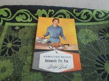 VINTAGE HAMILTON BEACH AUTOMATIC FRY PAN RECIPE & DIRECTIONS BOOKLET