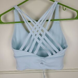 LULULEMON Free to be Moved Strappy Sports Bra Baby Blue Size: 2