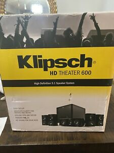 Klipsch HD Home Theater 600 5.1 Speaker System. NEW IN THE BOX.