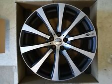 Alufelge Brock B21 schwarz-matt front-poliert 10 x 22 ET40 LK 5/120 alloy wheel