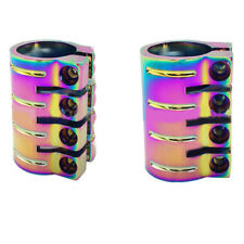 NEO CHROME PRO SCOOTER BLACK 4 BOLT QUAD CLAMP STANDARD & OVERSIZE SIZE BARS HIC